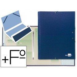 Carpeta clasificadora Paper Coat Liderpapel azul