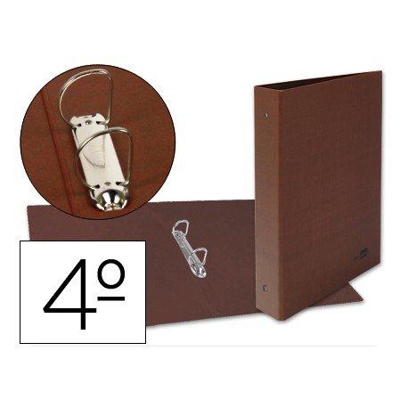 Carpeta de Liderpapel cuarto 2 anillas carton cuero 230 x 206 mm
