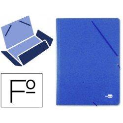 Carpetas de gomas en carton prespan Liderpapel Folio azul 880 g/m2