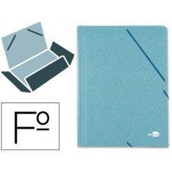Carpetas de gomas en carton prespan Liderpapel Folio verde 880 g/m2