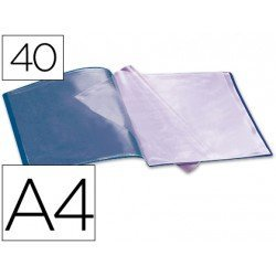 Carpeta escaparate con 40 fundas Beautone azul