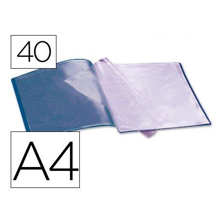 Carpeta escaparate con 40 fundas Beautone azul