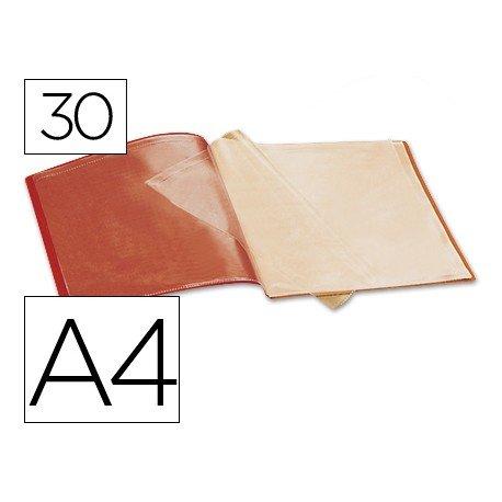 Carpeta escaparate con 30 fundas Beautone rojo