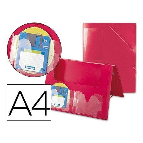Portadocumentos Carpeta Beautone A4 Gomillas Rojo opaco