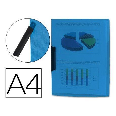 Carpeta dossier con pinza giratoria lateral Liderpapel Din A4 color azul