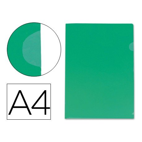 Funda dossier uñero Din A4 color verde