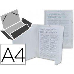 Carpeta lomo flexible con solapas marca Liderpapel Din A4 transparente