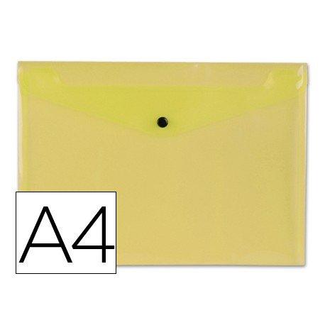Carpeta tamaño sobre Liderpapel con cierre de broche Color amarillo