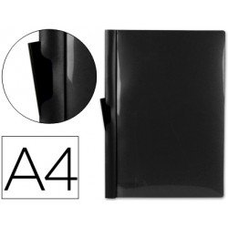 Carpeta dossier con pinza lateral Liderpapel 30 hojas Din A4 color negro