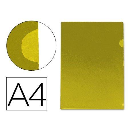 Funda dossier uñero Din A4 amarillo