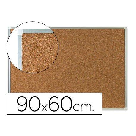 Tablero de corcho mural con marco de aluminio Q-Connect