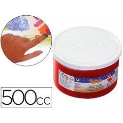 Pintura de dedos Jovi 500 cc color rojo