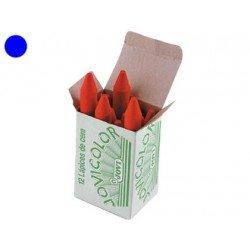 Lapices cera Jovi caja de 12 unidades azul oscuro