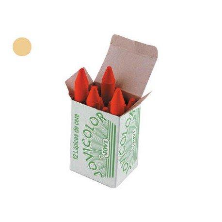 Lapices cera Jovi caja de 12 unidades color marron claro