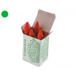 Lapices cera Jovi caja de 12 unidades verde claro