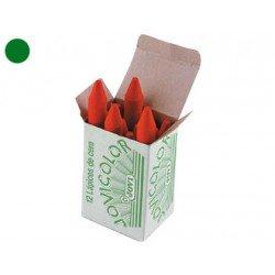 Lapices cera Jovi caja de 12 unidades verde oscuro
