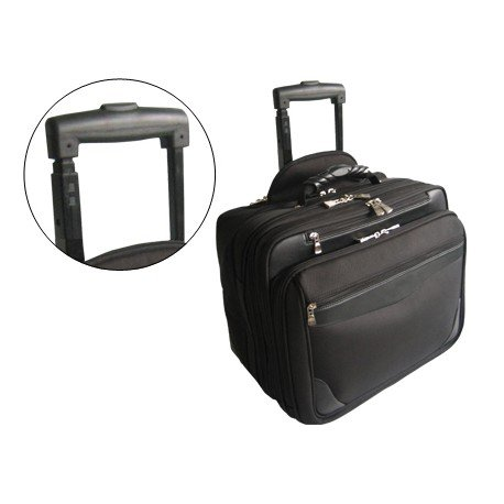 "Maletin para portatil 18"" Con ruedas nylon color negro Q-connect"