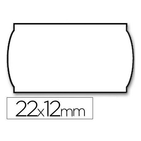 Rollo Etiquetas adhesivas marca Meto lisa removible 22 x 12