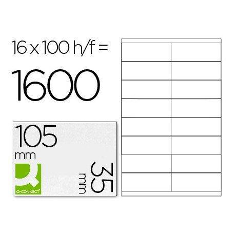 Etiquetas Adhesivas marca Q-Connect 105 x 35 mm