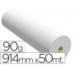 Papel reprografia para Plotter 90 g/m2, 914 mm x 50 m.