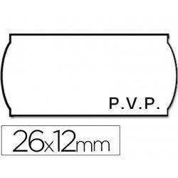 Rollo Etiquetas adhesivas marca Meto PVP 26 x 12