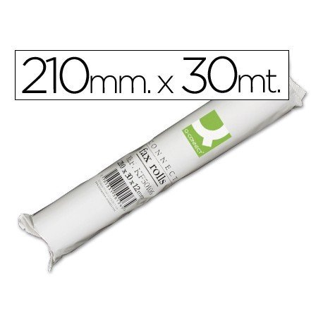 Rollo papel de fax Q-Connect 30m x 210mm.