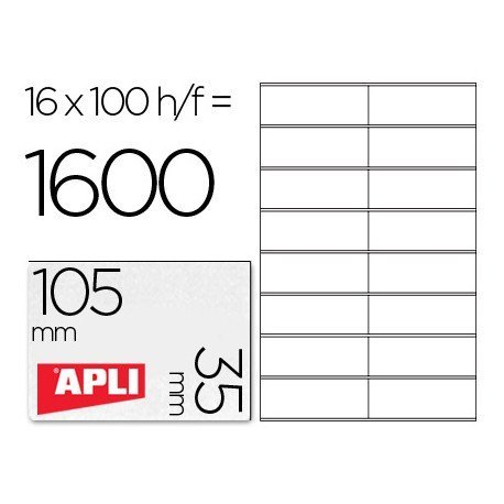 Etiquetas Adhesivas Apli 01287