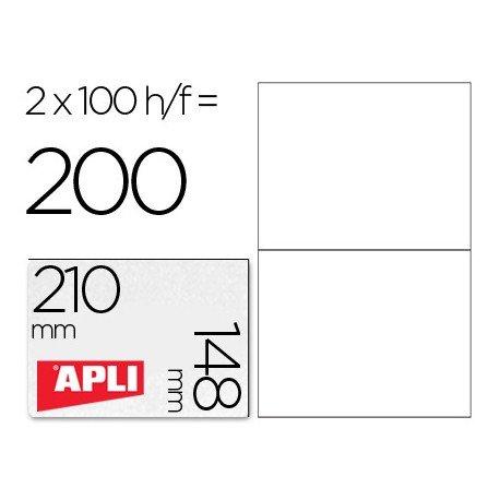 Etiquetas Adhesivas marca Apli 210x148 mm