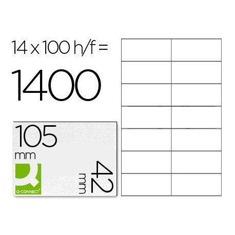 Etiquetas Adhesivas marca Q-Connect 105 x 42 mm