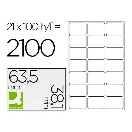 Etiquetas Adhesivas marca Q-Connect 63,5 x 38,1 mm