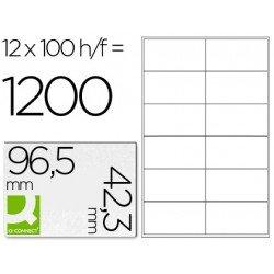 Etiquetas Adhesivas Q-Connect 96,5 x 42,3 mm