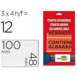 Etiqueta CONTIENE ALBARAN marca Liderpapel