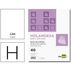 Bloc cartas marca Liderpapel holandesa 210X275mm liso