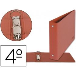 Carpeta marca Liderpapel 2 anillas 25 mm carton cuero cuarto apaisado
