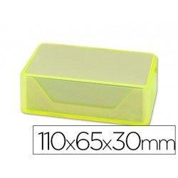 Caja plastico Liderpapel de tarjetas de visitas 110x65x30mm