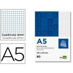 Bloc notas perforado Liderpapel Din A5 apaisado 80 hojas 60g/m2