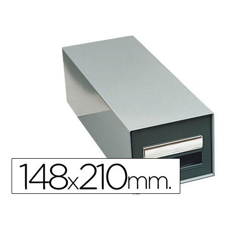 Fichero Liderpapel metálico sin cerradura fichas 148 x 210 mm