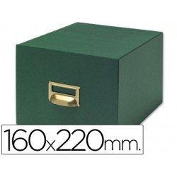 Fichero Liderpapel tela verde N5