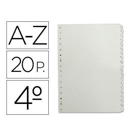 Separador alfabetico Multifin plastico 3002