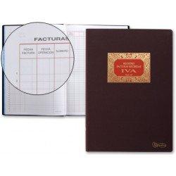 Libro Miquelrius tamaño folio de facturas recibidas 100 hojas