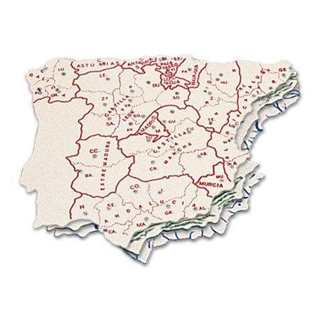 Plantilla mapa de España 15 x 12,5 cm