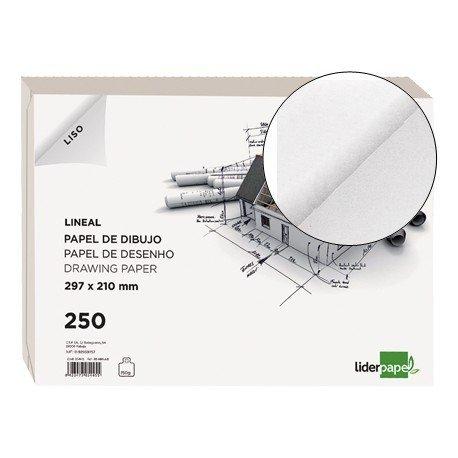 Papel dibujo Liderpapel Din A4 150g/m2