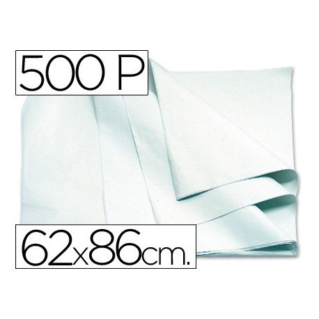 Papel manila 62x86 cm color blanco 1 resma