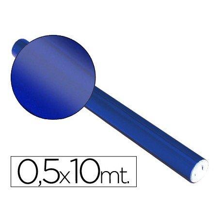 Papel metalizado Sadipal azul 65g/m2 medidas 50x10 cm