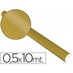 Papel metalizado Sadipal oro 65g/m2 medidas 50x10 cm