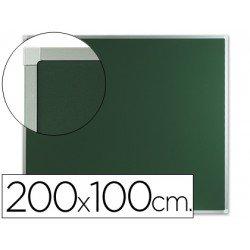 Pizarra Q-Connect verde marco de aluminio 200x100 cm