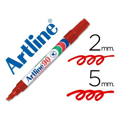 Rotulador permanente Artline EK-90 Recargable Color Rojo