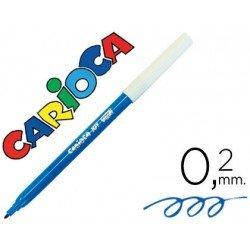 Rotulador Carioca fino lavable color azul