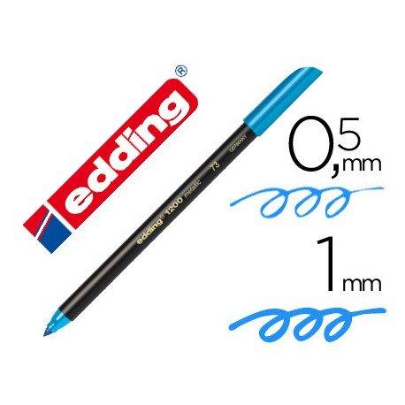 Rotulador Edding 1200 azul claro nº 10