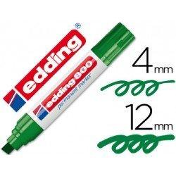Rotulador Permanente Edding 800 Color Verde Punta Biselada